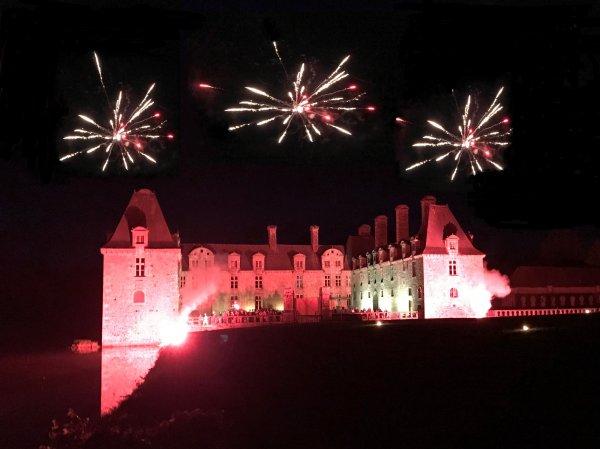 fireworks Chateau Brittany
