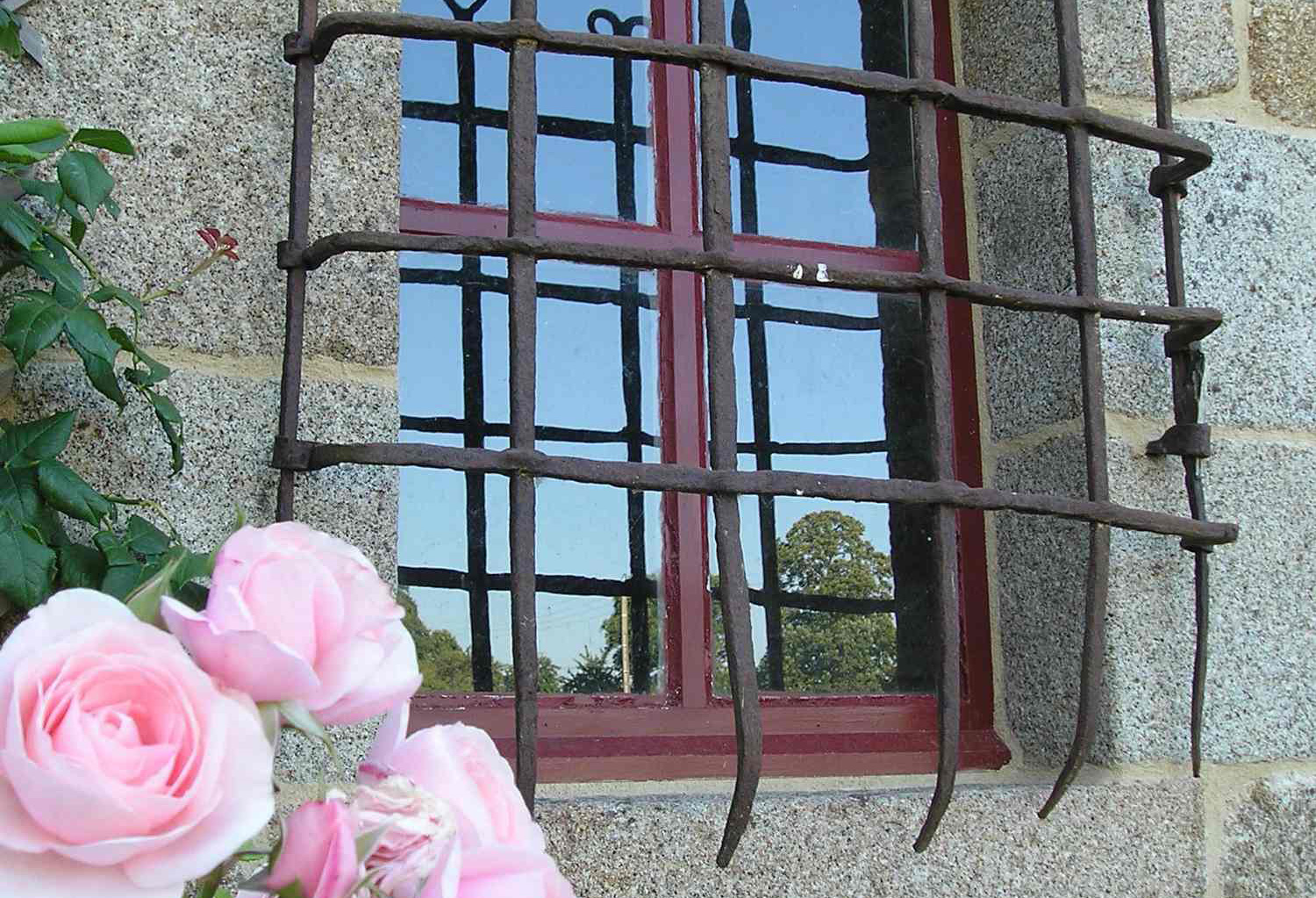 Manoir Du Vaugarny, wrought iron gate, XIV century, medieval Manor House, Brittany